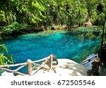 enchanted river in hinatuan ...   Shutterstock . vector #672505546