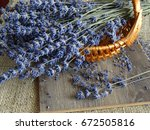 basket with lavender flowers | Shutterstock . vector #672505816
