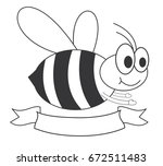 honey bee | Shutterstock .eps vector #672511483