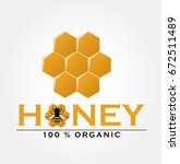 honey bee logo | Shutterstock .eps vector #672511489