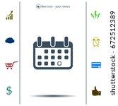 calendar icon  vector... | Shutterstock .eps vector #672512389