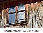 old wooden window    Shutterstock . vector #672515083