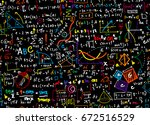 math linear mathematics... | Shutterstock .eps vector #672516529