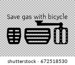 save gas with bicycle idea  ... | Shutterstock .eps vector #672518530