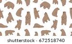 bear polar bear illustration... | Shutterstock .eps vector #672518740