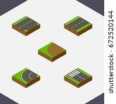 isometric way set of strip ...   Shutterstock .eps vector #672520144