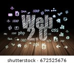 web development concept ... | Shutterstock . vector #672525676