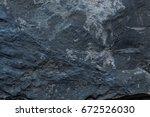 dark bluish stone pattern. rock ... | Shutterstock . vector #672526030