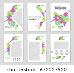 abstract vector layout...   Shutterstock .eps vector #672527920
