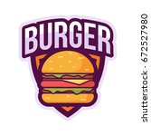 burger logo badge | Shutterstock .eps vector #672527980
