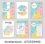 abstract vector layout... | Shutterstock .eps vector #672533440