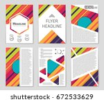 abstract vector layout...   Shutterstock .eps vector #672533629