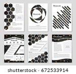 abstract vector layout... | Shutterstock .eps vector #672533914