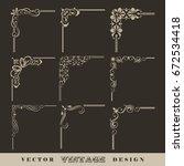 abstract corner pattern. set of ...   Shutterstock .eps vector #672534418