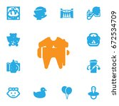 set of 13 baby icons set... | Shutterstock .eps vector #672534709