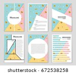 abstract vector layout... | Shutterstock .eps vector #672538258