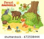 cartoon illustration with... | Shutterstock .eps vector #672538444