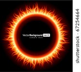 Abstract Burning Fire Circle...