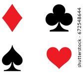 playing card symbols set | Shutterstock .eps vector #672548644