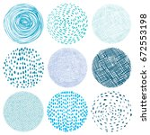 round texture elements with... | Shutterstock .eps vector #672553198