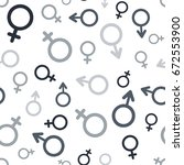 gender icon pattern. vector... | Shutterstock .eps vector #672553900
