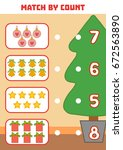 counting game for preschool... | Shutterstock .eps vector #672563890