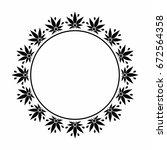 a round black and white frame... | Shutterstock .eps vector #672564358