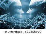 artificial intelligence and... | Shutterstock . vector #672565990