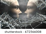 artificial intelligence and... | Shutterstock . vector #672566008