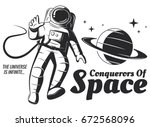 vector astronaut illustration. | Shutterstock .eps vector #672568096