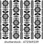finnish inspired seamless folk... | Shutterstock .eps vector #672569239