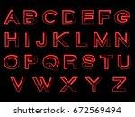 red alphabet | Shutterstock .eps vector #672569494