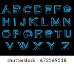 art beautiful alphabet | Shutterstock .eps vector #672569518