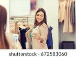 shopping  fashion  style ... | Shutterstock . vector #672583060
