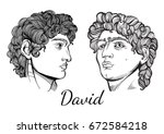 david. the mythological hero of ... | Shutterstock .eps vector #672584218