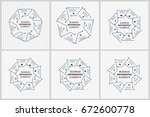 business info graphic elements... | Shutterstock .eps vector #672600778