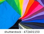 tee shirts made from synthetic...   Shutterstock . vector #672601153