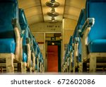 The Interior Of A Vintage Trai...