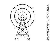 black transmitter vector icon... | Shutterstock .eps vector #672605686