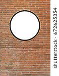 circular gaps  white circle on...   Shutterstock . vector #672625354
