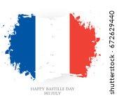 happy bastille day. 14th of... | Shutterstock .eps vector #672629440