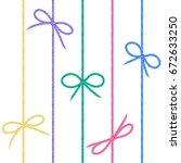 vector set of colored linen... | Shutterstock .eps vector #672633250