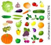 vegetables and fruit | Shutterstock .eps vector #67263796