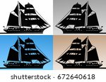 Sailing Ships With Different...