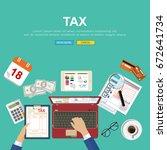 .calculation concept.... | Shutterstock .eps vector #672641734