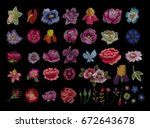 large floral collection. set...   Shutterstock .eps vector #672643678