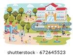 vector cartoon illustration of...   Shutterstock .eps vector #672645523