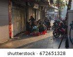 hanoi  vietnam   january 23 ... | Shutterstock . vector #672651328