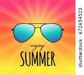 enjoy summer card with...   Shutterstock .eps vector #672654523