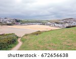 newquay  cornwall  uk. june 27  ... | Shutterstock . vector #672656638